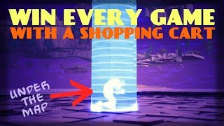 GET UNDER THE MAP IN FORTNITE & WIN!! - Shopping Cart Glitch (PC, Xbox, and PS4)