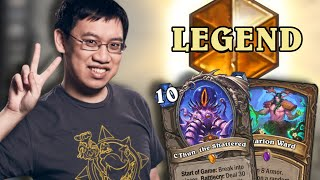 Trump ORIGINAL: C'Thun Druid to Legend! | Madness at the Darkmoon Faire | Hearthstone