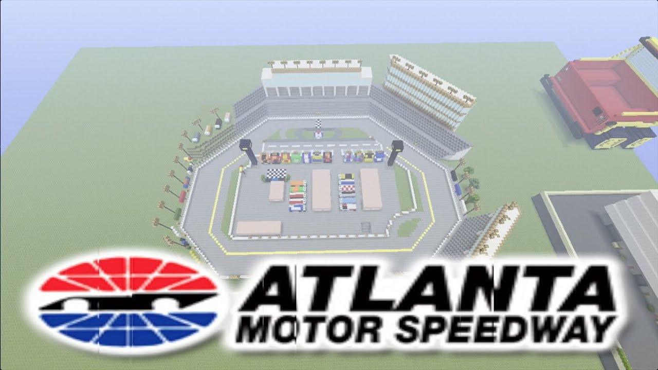 Atlanta Motor Speedway On Minecraft Youtube