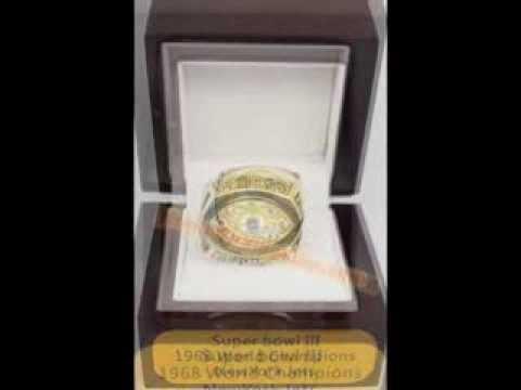 NFL 1968 New York Jets Super Bowl III World Championship Ring, Custom Championship Ring