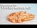 Assembling a Laser Cut YT-1300 Wood Kit - Star Wars