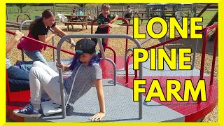 Lone Pine Farm FUN KID VLOG | Ice Cream, Playground PLAY FAIL, Animals, FRIENDS