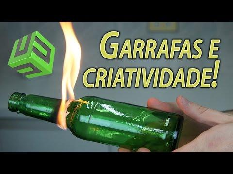 FORMAS CRIATIVAS DE REAPROVEITAR GARRAFAS DE VIDRO