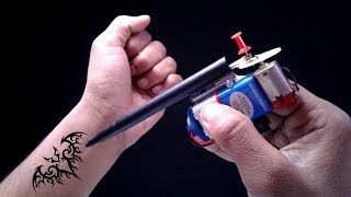 Easy Invention- How to Make a Permanent Tattoo Machine