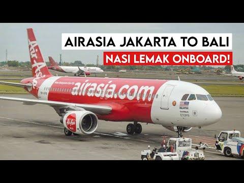 AirAsia QZ7520 Airbus A320 Jakarta (CGK) To Denpasar Bali (DPS)