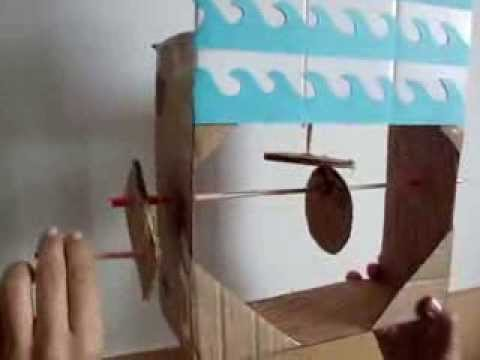 how to make a cardboard cam follower toy