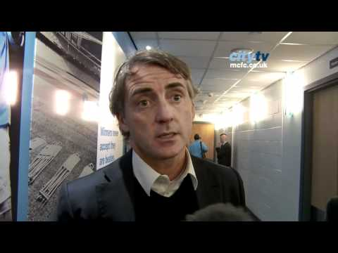 FAC3 City v United - EXCLUSIVE Mancini post-match reaction