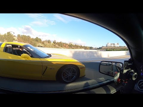 Z06 Corvette plays with Boosted Mustang GT!