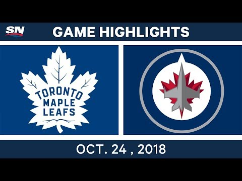 NHL Highlights | Maple Leafs vs. Jets - Oct. 24, 2018