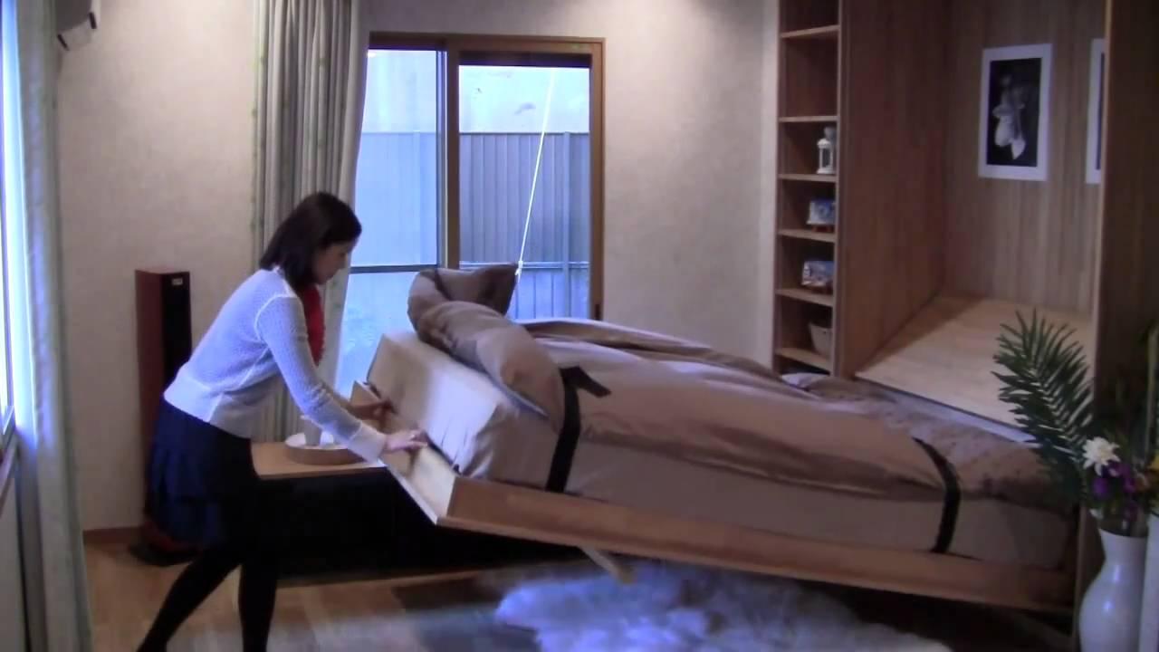 壁収納ベッド・リノファニチャーでお部屋が変わる! - youtube