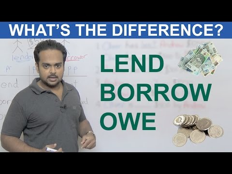 LEND, BORROW, OWE - What's the Difference? - Learn English Vocabulary