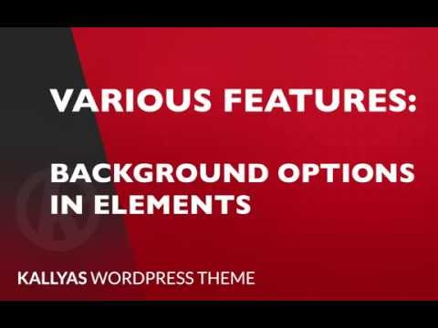 Background options in elements