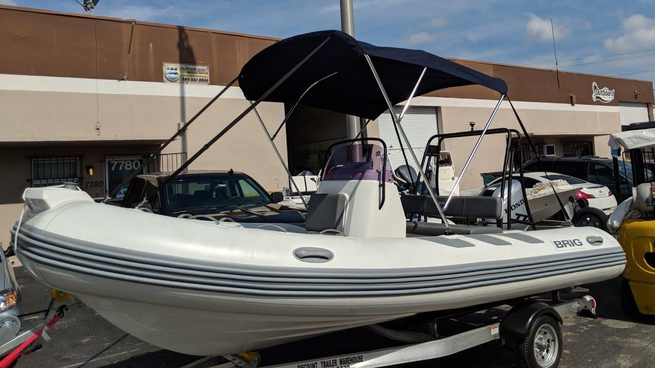 Custom Bimini and cover for an inflatable rib boat