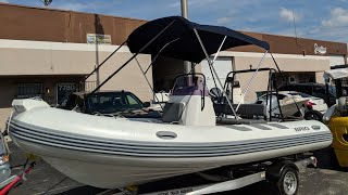 Custom Bimini and cover for an inflatable rib boat