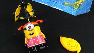 despicable me 2 minions be ready to fly helicopter toy летающий миньон minions juguetes voladores