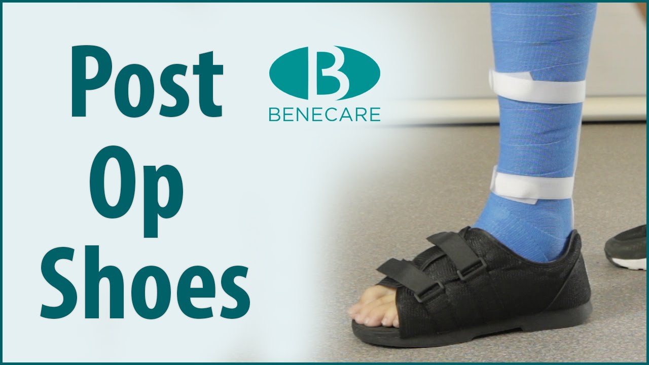 5cc409dd1b6 Benecare Post Op Shoes  Product Information - YouTube
