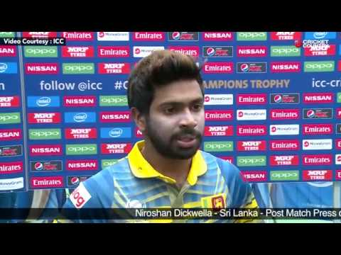 Niroshan Dickwella - Post Match Press conference, India vs Sri Lanka Match 8, June 8, 2017