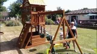 Selwood Stonefield Lodge Wooden Climbing Frame Install
