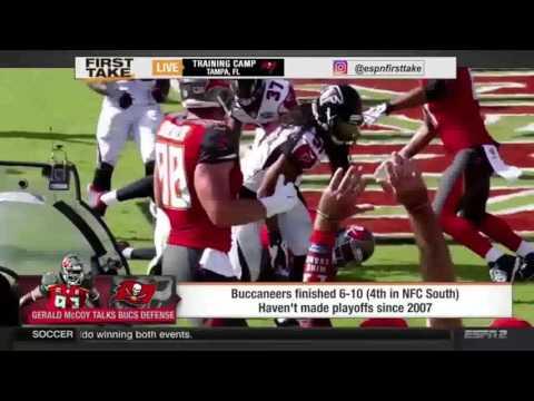 ESPN First Take   Gerald McCoy On Bucs & Buccaneers Defense