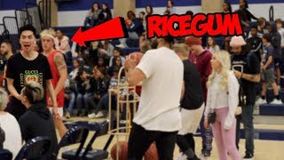 I THOUGHT MY BROTHER AND RICEGUM WAS GONE FIGHT !! * ace family basketball match *