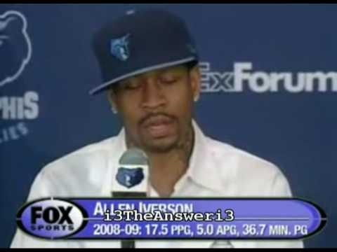 online retailer b2d60 f2c5b Allen Iverson Memphis Grizzlies interview