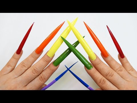 Learn Colors 10 Rainbow Nail Polish Colour with Reverse Rainbow Double Thumbkin Top Compilation Kids