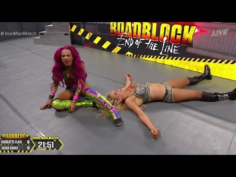 Sasha Banks VS Charlotte | Iron Man match | WWE RoadBlock | RAW Women's Championship