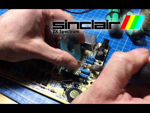 ZX Spectrum 48k Capacitor Replacement
