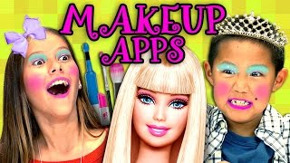 KIDS PLAY MAKEUP APPS?! (Kids React: Gaming)