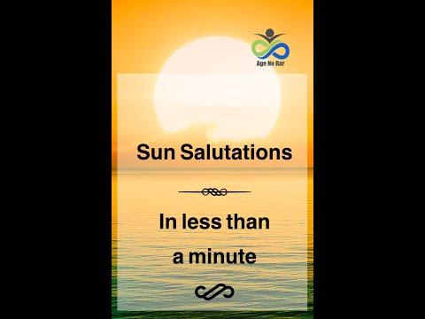 Sun Salutations | Quick Yoga Workout | Weight loss Yoga |surya namaskar | #shorts