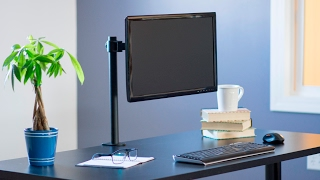 STAND-V001 Single Monitor Desk Mount by VIVO