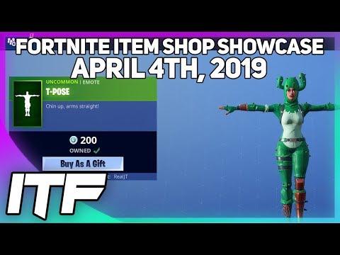 Fortnite Item Shop T-POSE IS BACK! [April 4th, 2019] (Fortnite Battle Royale)