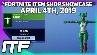 Fortnite Item Shop T-POSE IS BACK! [April 4th, 2019] (Fortnite Battle Royale)