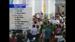 Saksi 51 nanalong party-list groups, ipinroklama na
