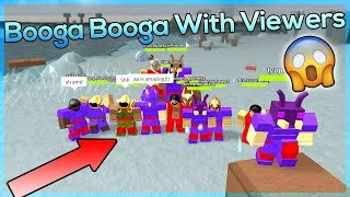 Playing Booga Booga With Viewers | TapWaterRBLX | Robux Giveaways