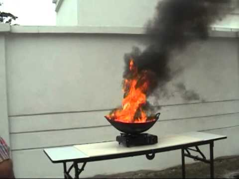 Using 1kg ABC Dry Powder Fire Extinguisher