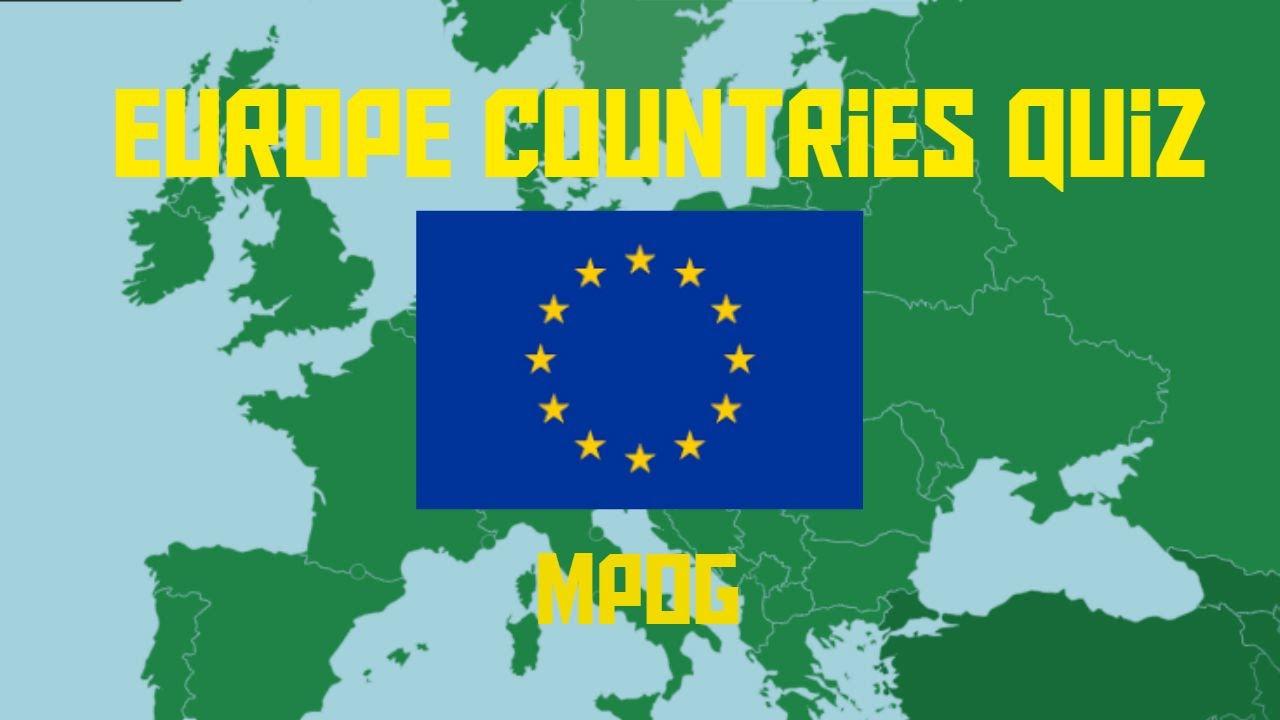 Europe Countries Map Quiz Game - MPOG