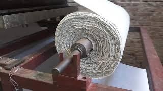 Asebestos &nonwoven  clothes pasting driyer machine