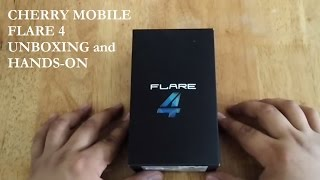 Cherry Mobile Flare 4 Unboxing and Hands-on