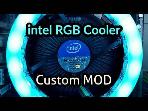 intel RGB Stock Cooler | Custom Mod | Giveaway