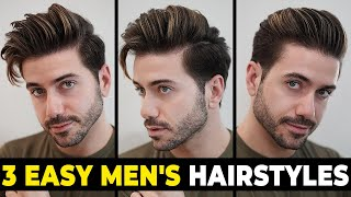 3 EASY HAIRSTYLES FΟR MEN 2020 | Men's Hairstyle Tutorial | Alex Costa