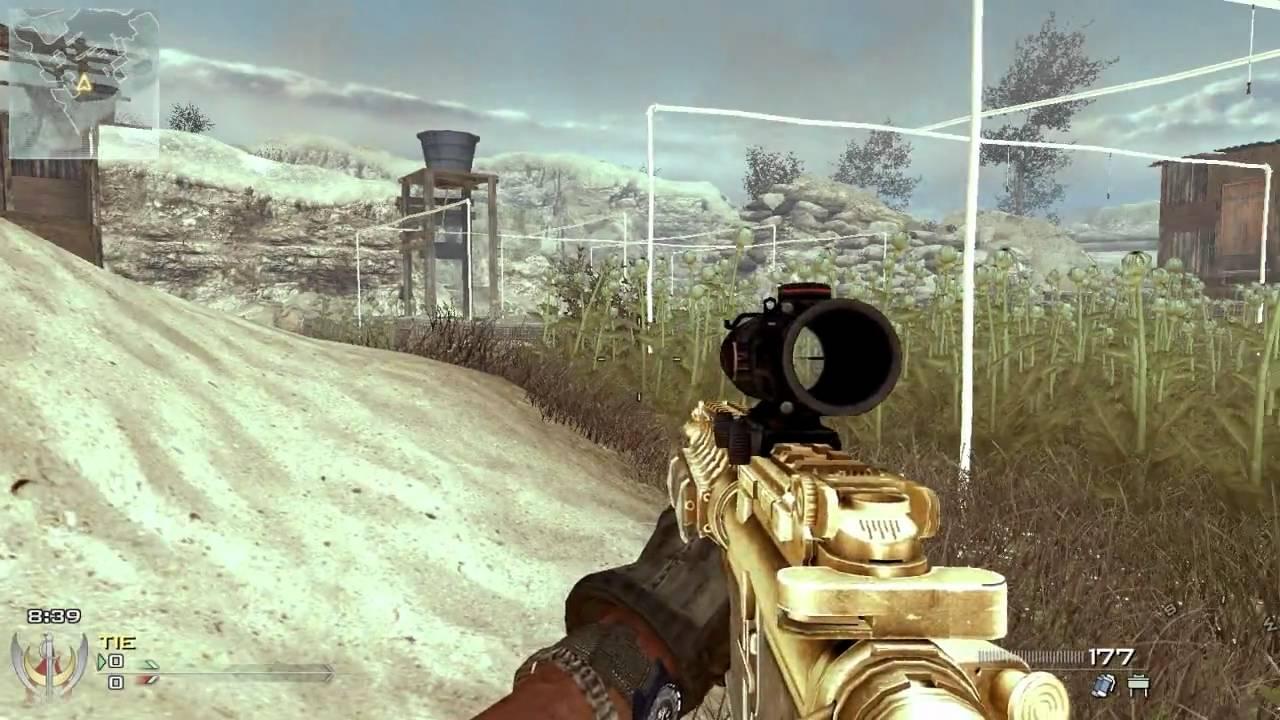 CoD MW2 Mods - M4A1 Gold