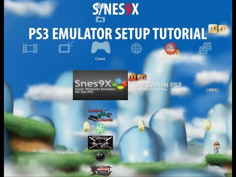 how to snes emulator on ps3