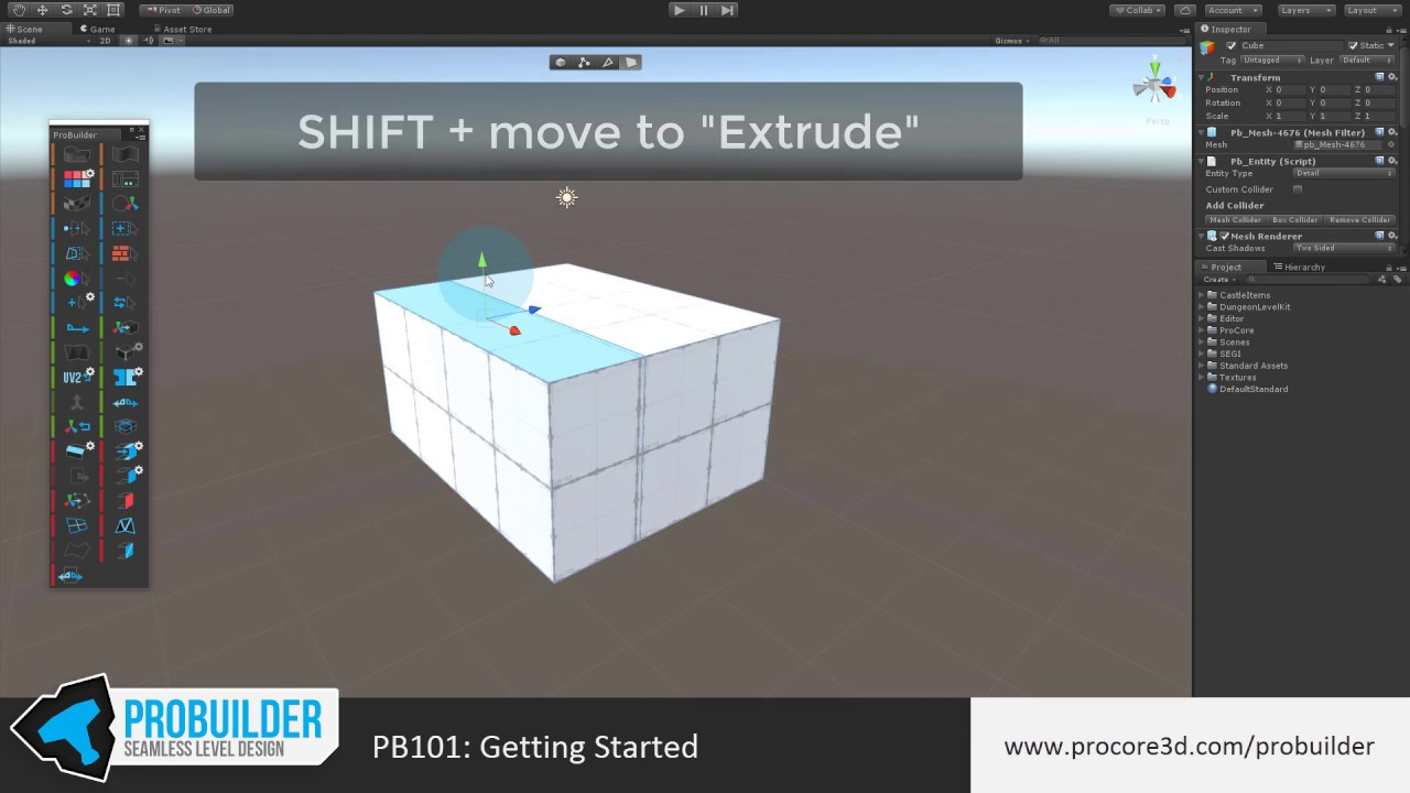 Getting Started with ProBuilder for Unity