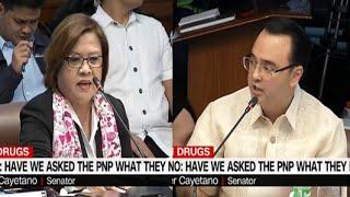 Senator Cayetano vs Leila De Lima On Police Being Oppress In Doing Their Duties Infavor Of Criminals