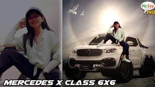 Mercedes x-class 6x6 @Iskabie Wulandari dream car from photo manipulation screenshot 3