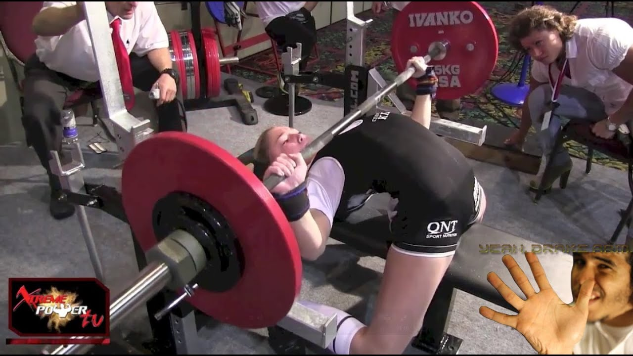 Record Bench Part - 17: 13-Year-Old Girl Can Bench Press 198lbs (World Record) [DrakeArm Review]