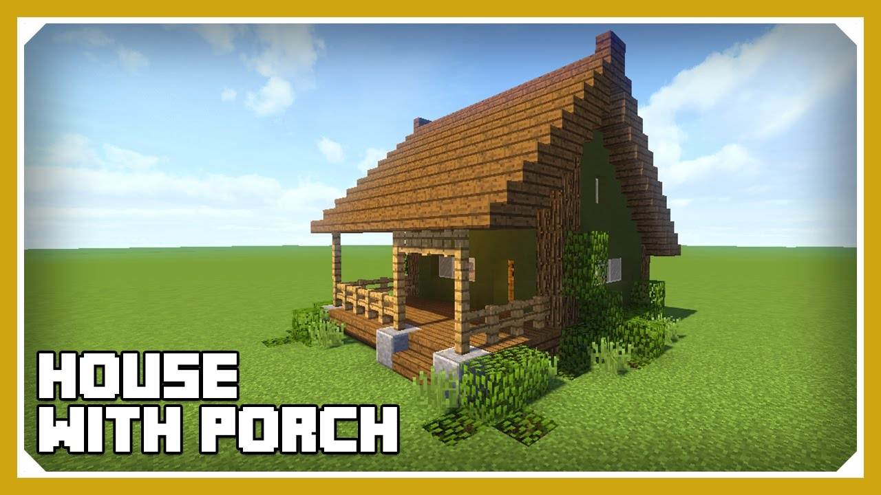 Minecraft: How To Build A House With A Porch Tutorial (Easy Survival  Minecraft House)