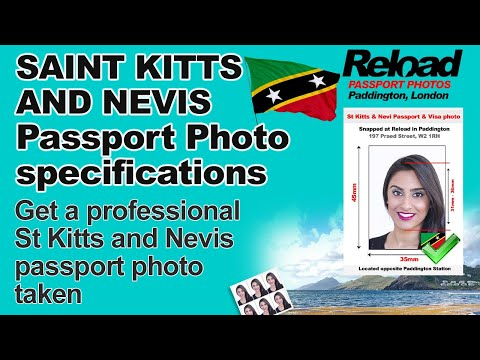 St Kitts and Nevis Passport Photo and Visa Photo snapped in Paddington, London