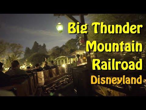 2018 Disneyland Big Thunder Mountain Railroad Roller Coaster at Night On Ride Low Light HD POV